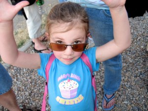 Awesome shot of my niece...raising the roof?