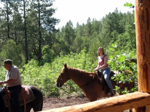 I rode Billy. That horse knew I didn't know a thing about horseback riding and just followed Grandpa.