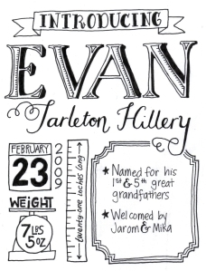 "To do: (1) make ""Evan"" less wibbly-wobbly. (2) increase thickness of outlines. (3) find better bullet point, ditch the star. (4) change the writing in the box to something more awesome. (5) add a border to the whole thing?"